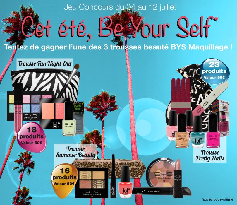 Du 04 au 12 Juillet, tentez de gagner une des 3 trousses beauté BYS Maquillage!