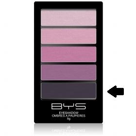 Palette 5 ombres à paupières Baie Sauvage BYS Maquillage