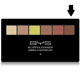 Palette 6 fards à paupières Naturel BYS Maquillage