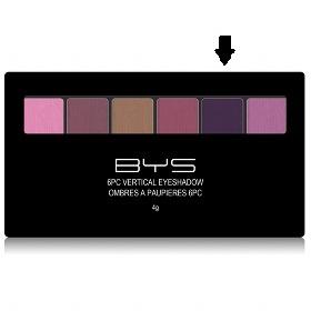 Palette 6 fards à paupières Rose/Violets BYS Maquillage