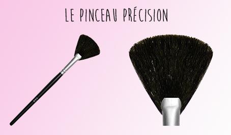 Pinceau poudre éventail BYS Maquillage