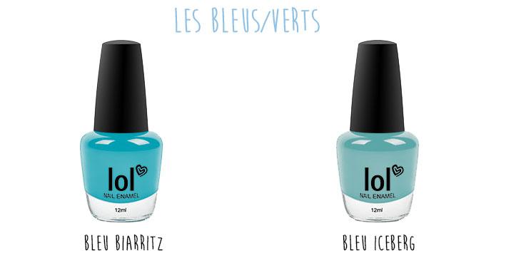Vernis à ongles pastels BYS Maquillage les bleus 2