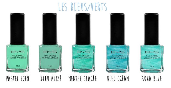 Vernis à ongles pastels BYS Maquillage les bleus