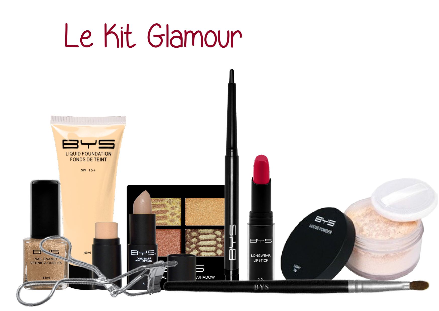 Kit glamour BYS Maquillage