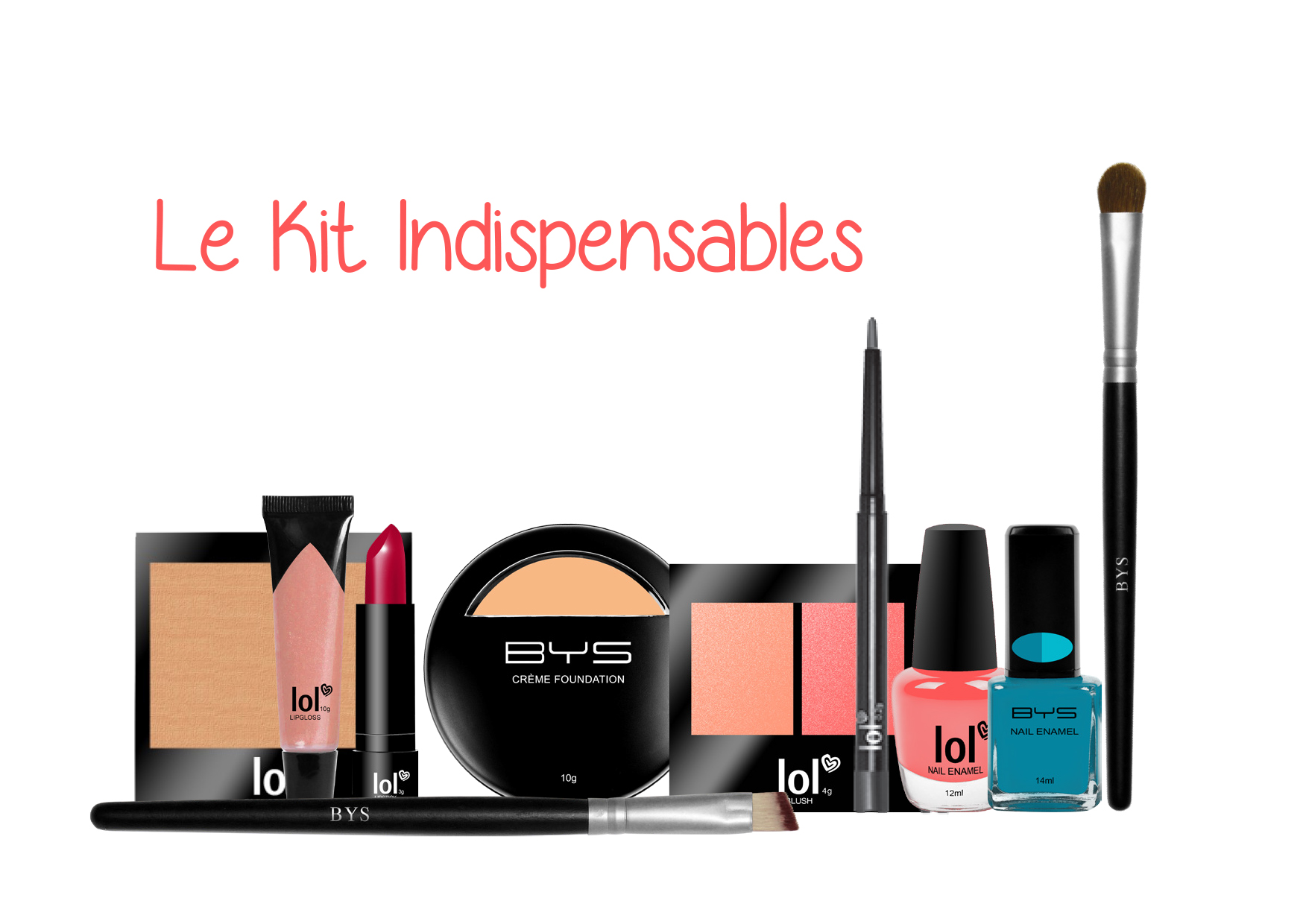 Kit indispensables BYS Maquillage