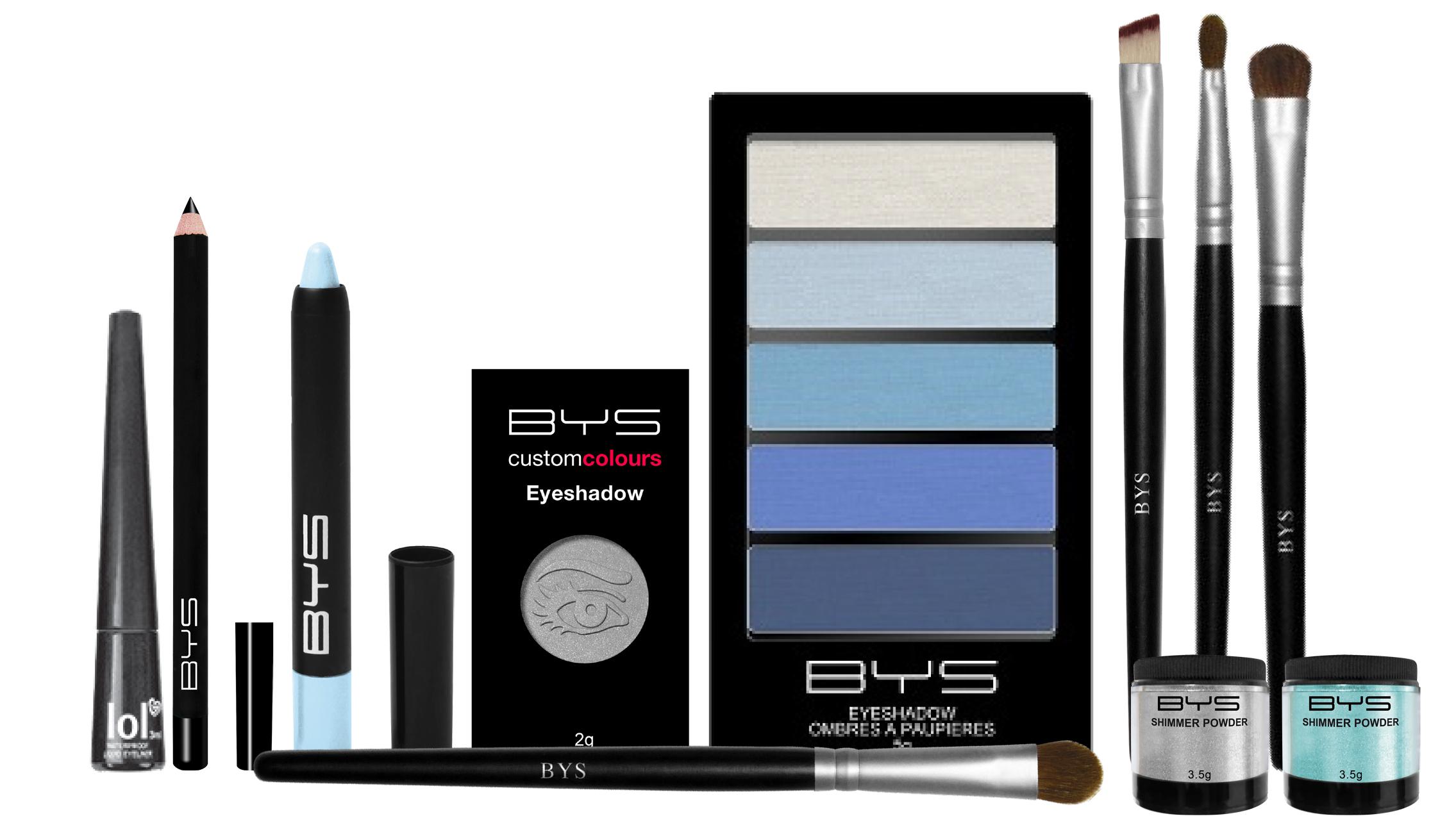 Maquillage bleu pastel BYS Maquillage