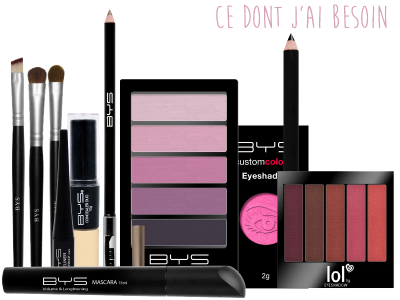 Maquillage rose pastel BYS Maquillage